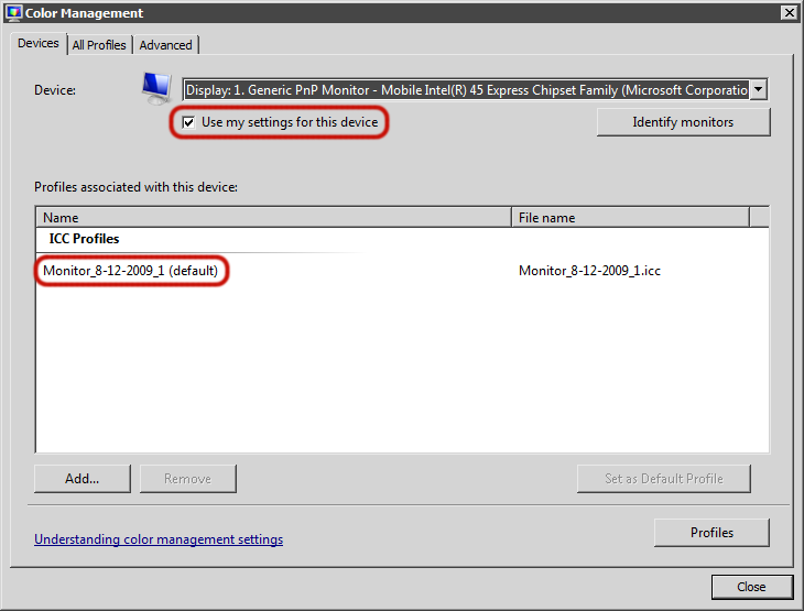 Icc Monitor Profile Windows 7 - ▷ ▷ PowerMall