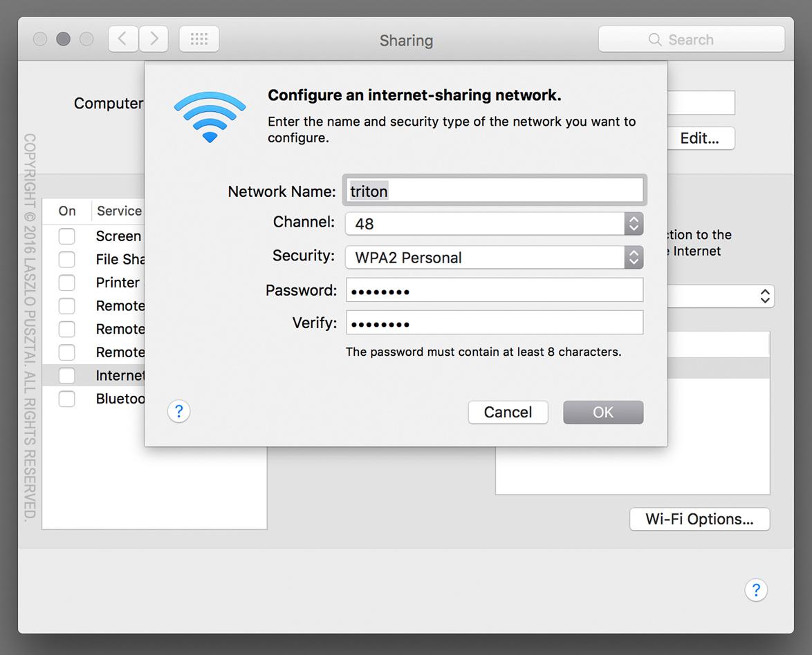 Creating a Wi-Fi Access Point on OS X – Laszlo Pusztai