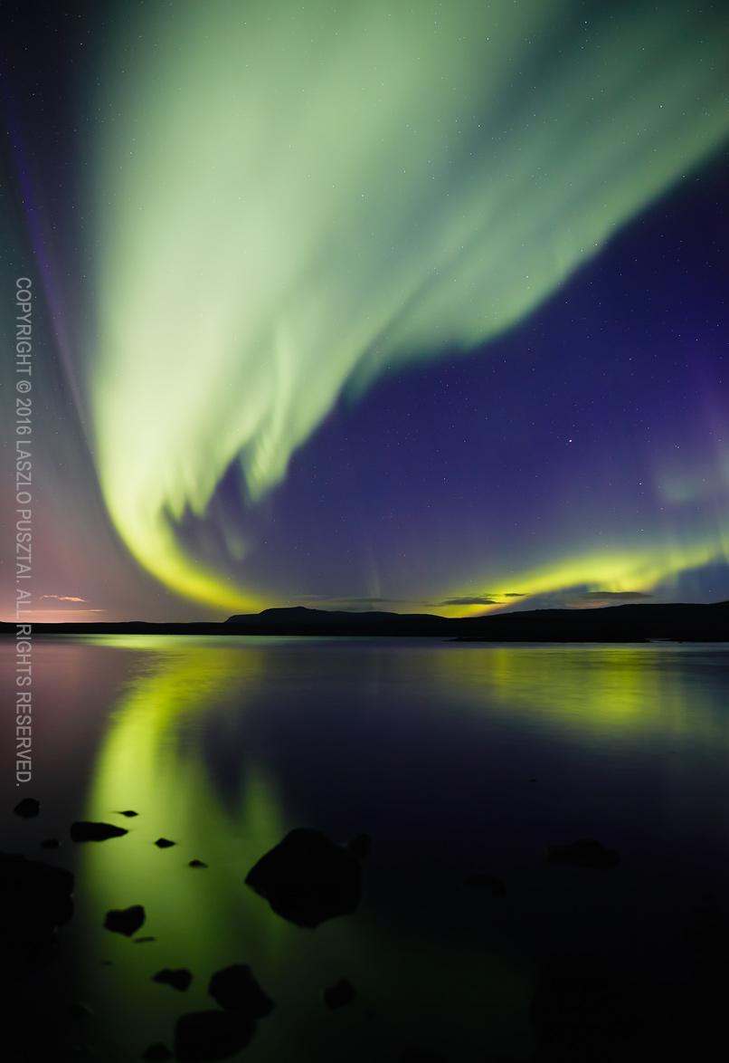 Aurora Over the Lake